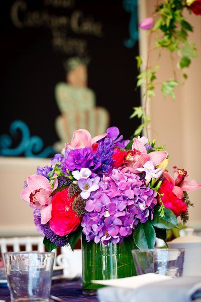 Bridal shower ideas red centerpieces and