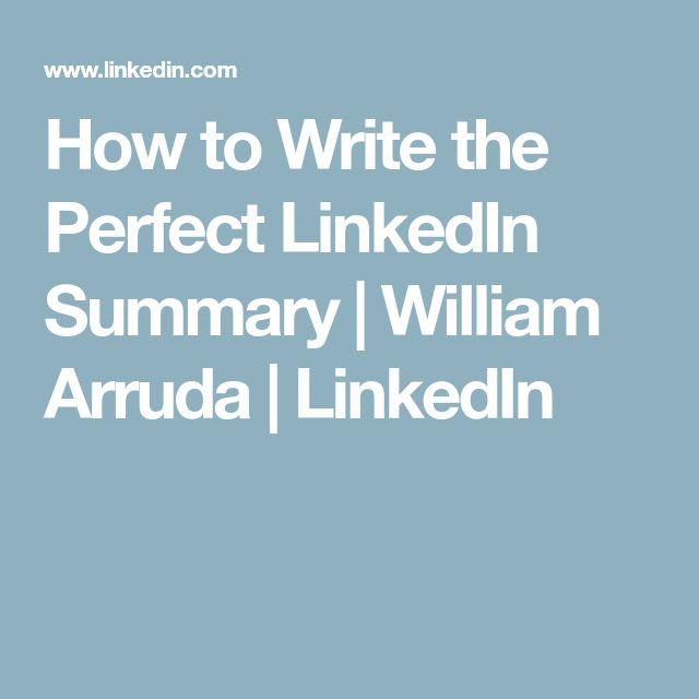 The 25+ best Linkedin summary ideas on Pinterest Resume, Job - make a resume from linkedin