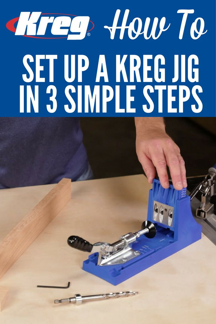 How To Set Up a Kreg Pocket-Hole Jig in 3 Simple Steps | When you set up a Kreg Jig, setup is important to success. Thankfully, it's also very easy. Once you know the thickness of your material, there are really just three simple steps, which we'll show you here.