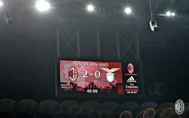 #MilanLazio display San Siro