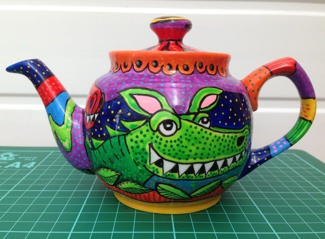 Handpainted Dragon Teapot. One off design. £22.00