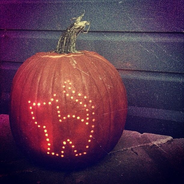 pumpkin drilling | Drill a pumpkin into a pattern! | Stuff I like