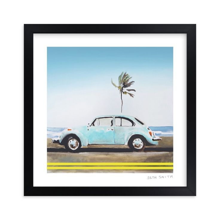 """Turq"" - Limited Edition Art Print by SETH SMITH in beautiful frame options and a variety of sizes."