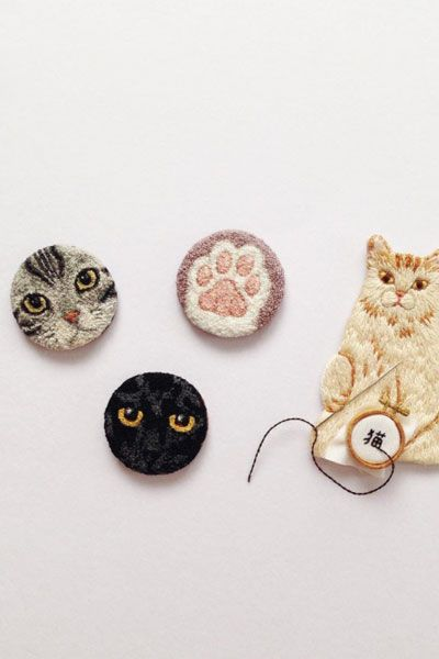 Tiny Embroidery by ipnot on Instagram // Loving these amazing little pieces of…
