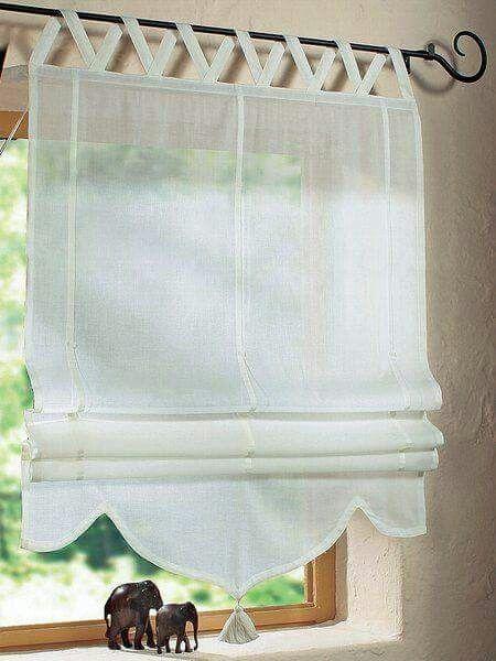 17 melhores ideias sobre cortinas de janela do banheiro no - Estor con cortina ...