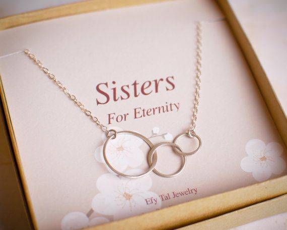 Three Sisters Necklace Sterling Silver 3 by BridalPartyLove