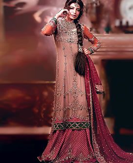 D4117 Latest Indian Bridal Wear Collection 2013 Wakefield UK, Online Store For Wedding Party Wear Bradford New Arrivals