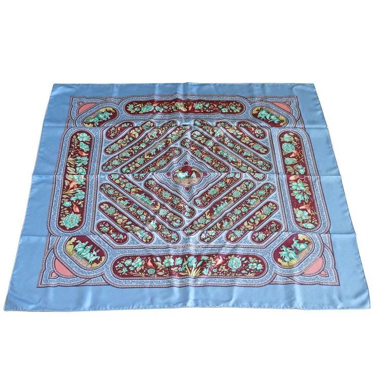 Available mightychic.com Hermes Scarf Vintage print QALAMDAN silk beauty