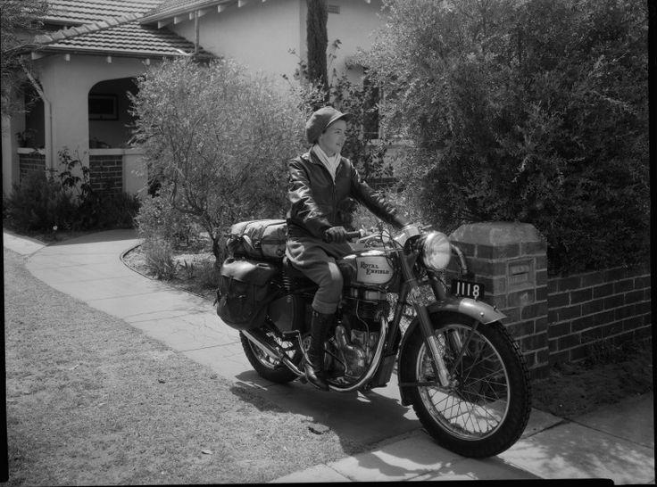 234704PD: Winifred Wells before her journey across Australia, 19 December 1950 https://encore.slwa.wa.gov.au/iii/encore/record/C__Rb2293791