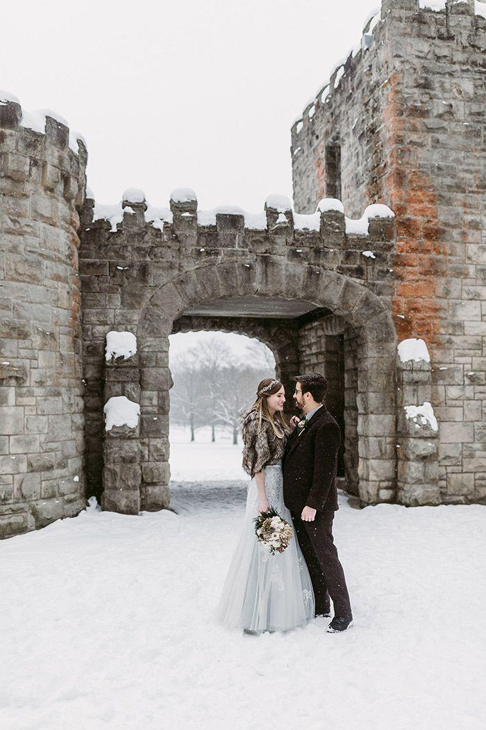Jessica James Intimate Snowfall Wedding Today S Bride Ohio Wedding Photographer Cleveland Wedding Photography Ohio Wedding