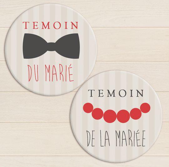 badge temoin mariage