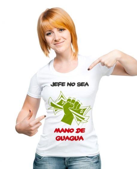 JEFE NO SEA MANO DE GUAGUA - http://www.kamiz.cl/poleras/19-jefe-no-sea-mano-de-guagua.html#/talla-s/donde_quieres_estamparlo-al_frente/elije_tu_estilo-femenino/color-blanco