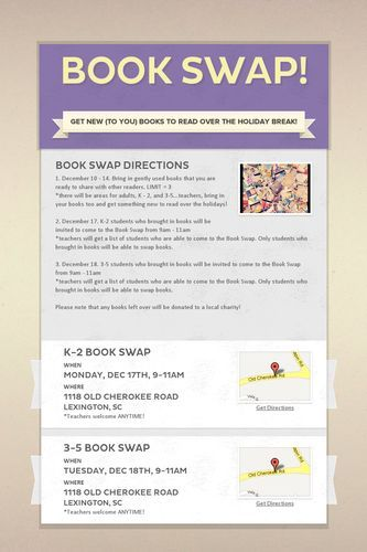 Book Swap letter for new (to you) books - great idea for holidays next year at school