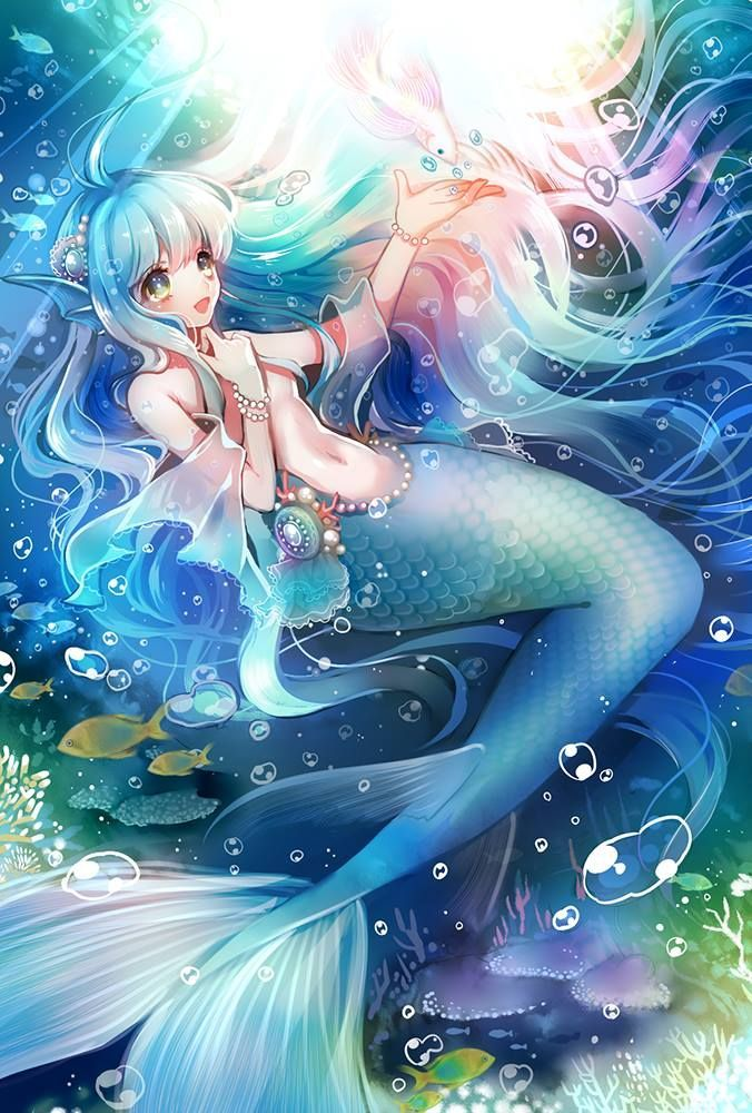 I MEAN SERIOUSLY THEY'RE Anime mermaid, Anime