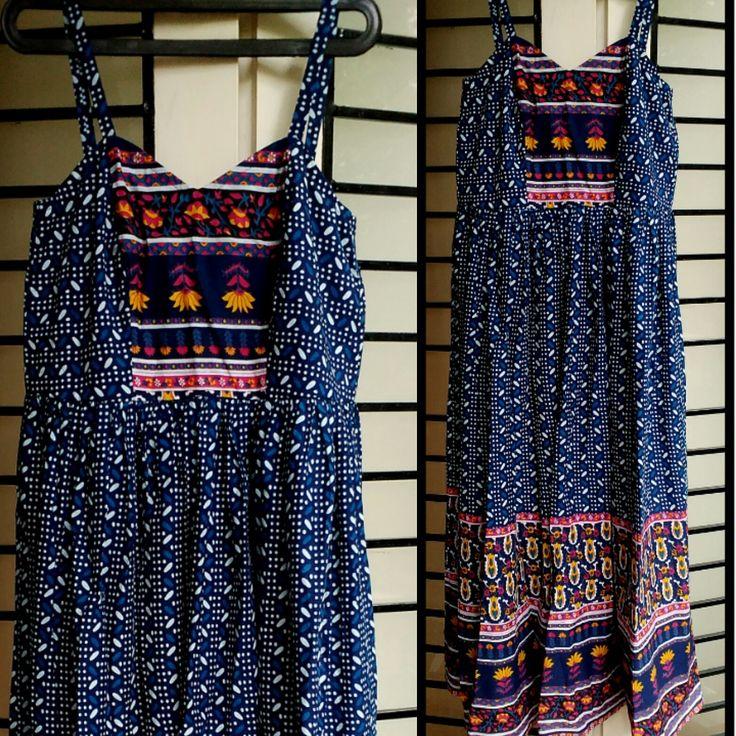 Printed cotton speg maxi dress by tadka