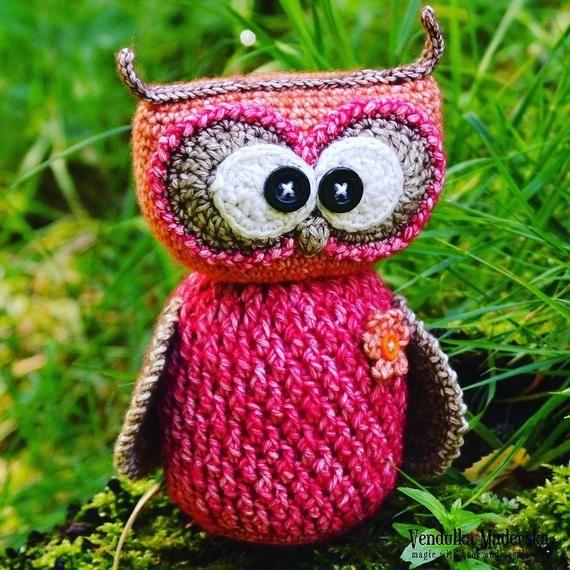 Seamless Owl Amigurumi Pattern, crochet toy, diy present, baby ... | 570x570
