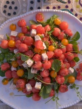 http://www.cookingchanneltv.com/recipes/haylie-duff/watermelon-salad-with-lemon-vinaigrette.html