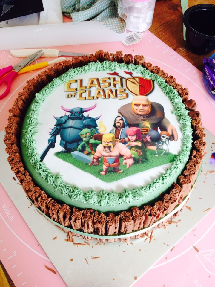 Clash of Clans cake  Cakes  Pinterest  Clash of clans et Gâteaux