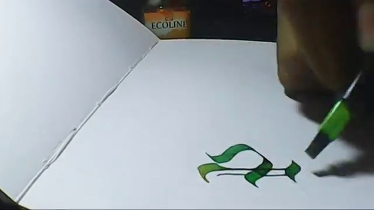 Pacman |hand lettering with pilot parallel pen 3.8