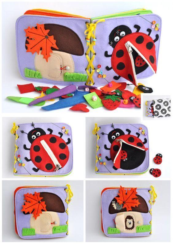 Quiet Book/Children's Quiet Book/ Busy Book, Activity, Montessori, Fabric Book, Travel Toy
