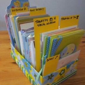 Organizing Greeting Cards