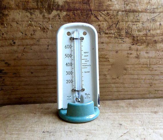 Termómetro de cocina vintage, Retro hornear calibrador de temperatura de Taylor…