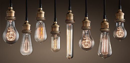 New trend for vintage weddings: Edison Lightbulbs, which leave the filaments exposed for an industrial, modern vibe.