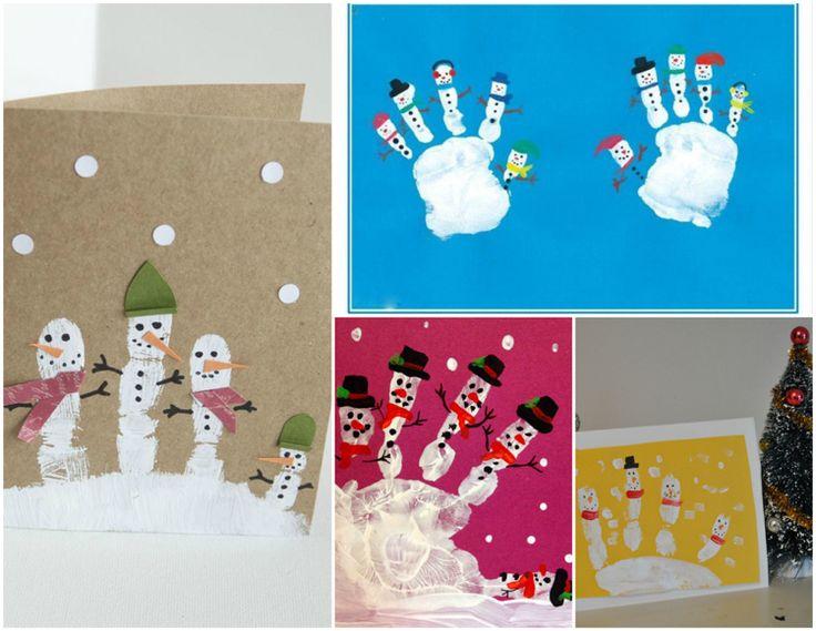 handabdruck zu weihnachten weihnachtskarten schneem nner. Black Bedroom Furniture Sets. Home Design Ideas