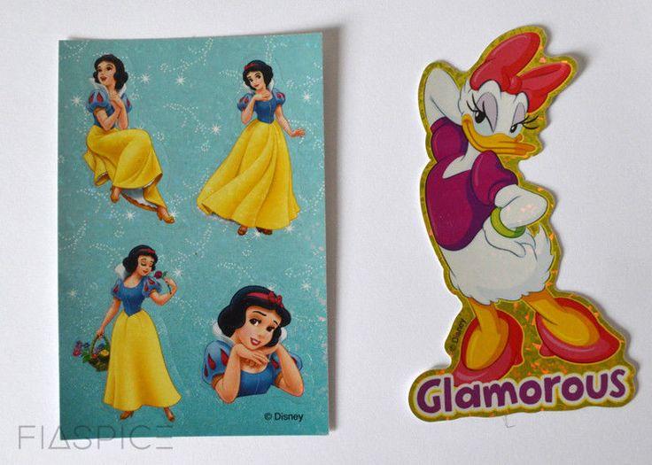 Sandylion Disney Daisy glamorous die-cut and Snow White stickers #Sandylion #Sparkle