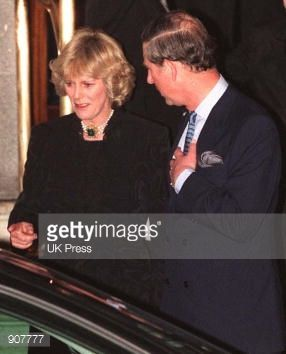 Camilla Parker Bowles and Prince Charles taken January 29, 1999 at Camilla's sisters 50th Birthday day party| Getty Images