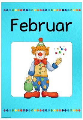 """Ideenreise: Monatsplakat """"February/Februar"""""""