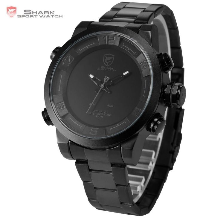 Official Shark Gulper Digital Quartz LED Men's Military Army Sport Watch