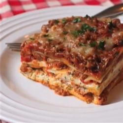 Chef John's Lasagna Allrecipes.com. Made for Christmas and came out great, add a little more sauce/water next time