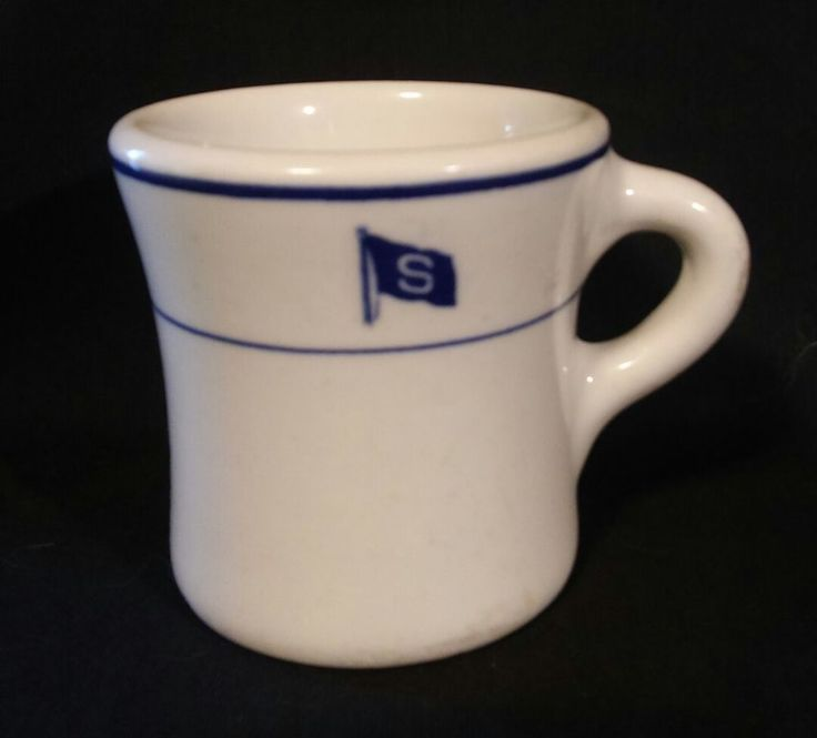 Rare Maritime STANDARD OIL CO.  Ship Blue Flag  S Mug / Cup O P Syracuse 1940