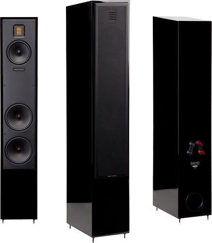 """MartinLogan - Motion 40 6-1/2"""" Floor Speaker (Each) - Gloss Black - Angle"""