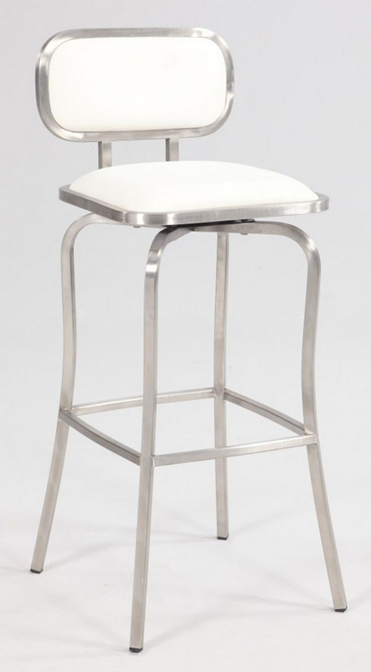 Unique Swivel White Bar Stools