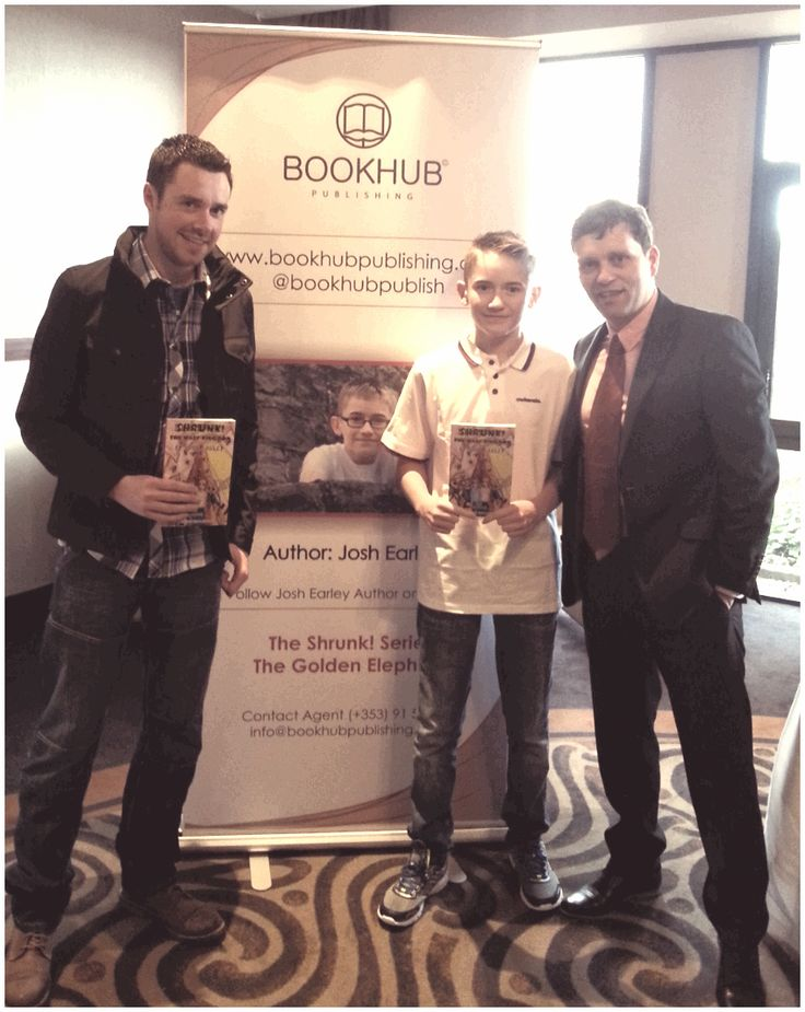 Frank Sammon, Illustrator from Book Hub Publishing with Josh Earley, Author and Book Hub Publishing's Dr. Niall McElwee.