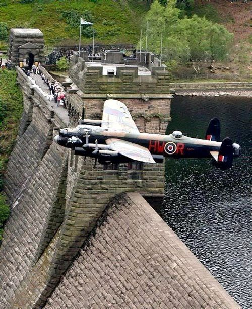 Derbyshire played a huge role in the war and the development of the bouncing bomb Operationchastise: Lancaster over Derwentwater