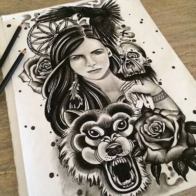 Image result for wolf skull illustration