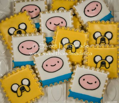 Sweet Handmade Cookies - Adventure Time cookies.