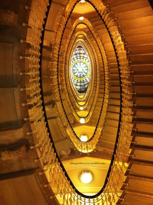 Astounding stairwell in Genoa ~