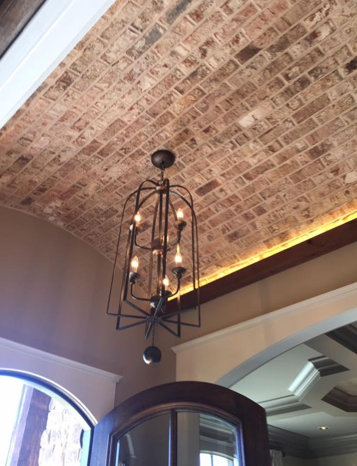 Brick Barrel Ceiling In Foyer In 2019 Barrel Ceiling