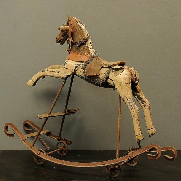 Ancien cheval à bascule XIXeme | CHEVAL A