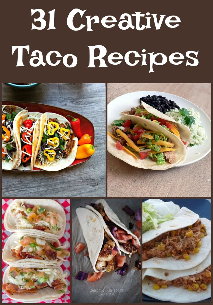 Taco night is the best night! Creative tacos are a nice way to change things up and spice your recipe rotation up! There are endless ways to make them. Whether you're doing fish tacos, chicken t...