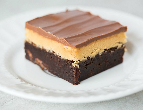 Buckeye Brownies.  And I thought regular buckeyes were heaven....these are even better!  @browneyedbaker