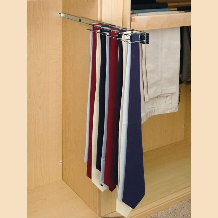 how to put ties on a tie rack