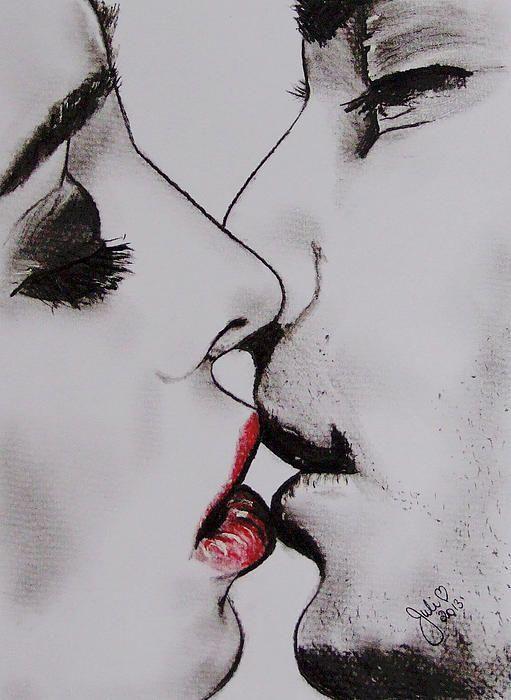 Картинка поцелуй нарисованная