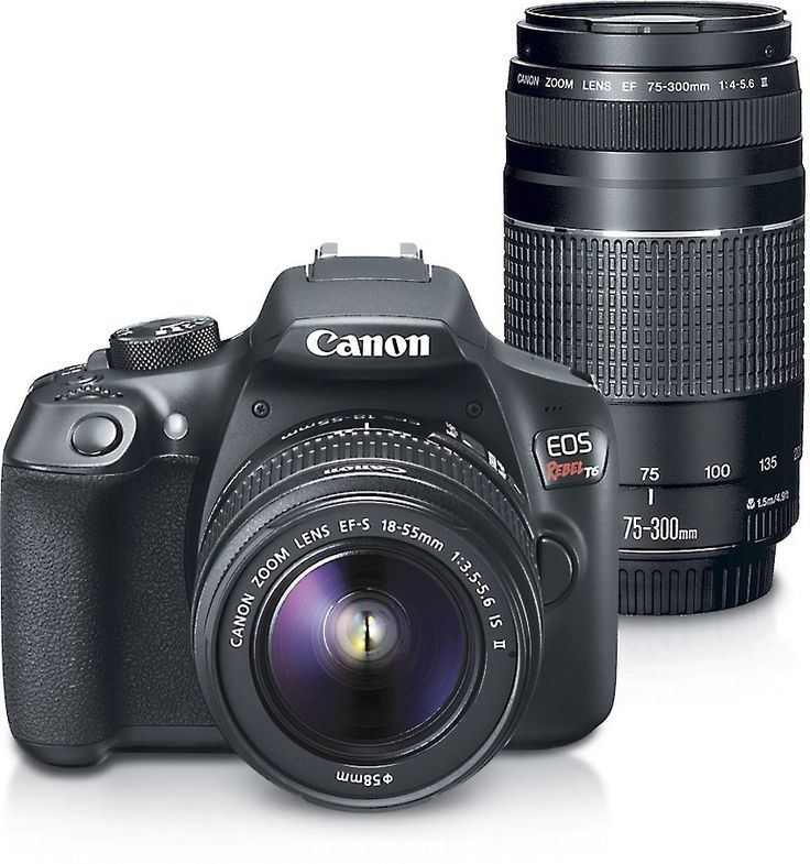 The Canon EOS Rebel T6 Kit is ideal for first-time DSLR users. Ready when you are If you're ready to take your photography to the next level, the Canon EOS Rebel T6 can take sharp,❤️❤️