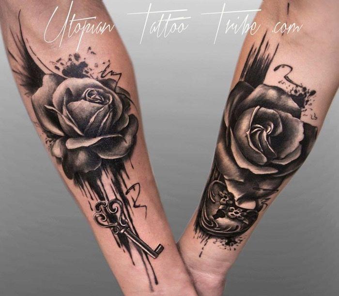 Pingl par natalie whelan cooke sur tattoos pinterest tatouages tatouage couple et cesar - Symbole tatouage couple ...
