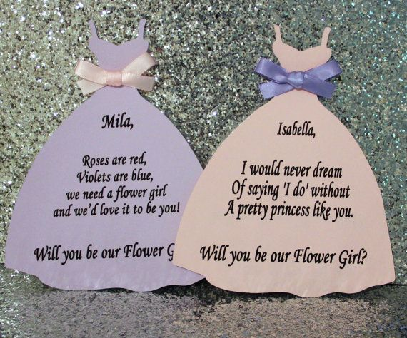A unique way to ask your girls to be apart of your special day!    Please read shipping & polices before you purchase! Each card is $3.85 so
